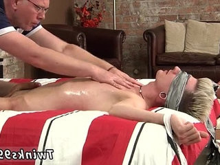 Army boys gay sex photo slimy with oil and leaking precum, his