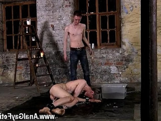 Men eat cum gay movietures Chained to the warehouse floor and