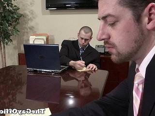 faggot office studs fucking in the board room