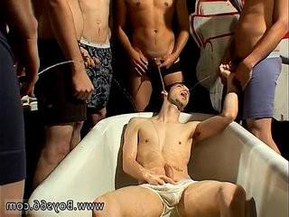 Gay anal hook-up bare movie hard Frat Piss Kaleb Scott!