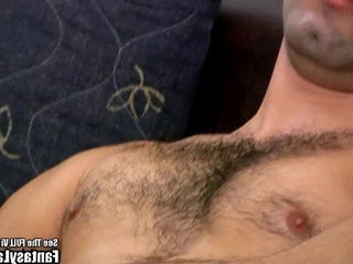 Hairy Latin Punk hits His shaft On Couch