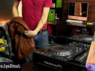 demonstrateers homosexual threesome hookupy youthful DJ Andy Kay is working his skills